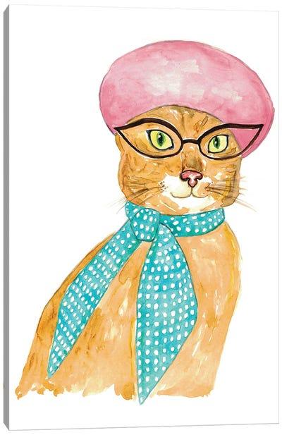Cat In Hat Canvas Art Print