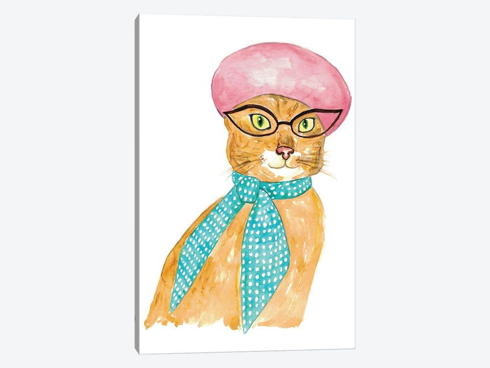 Cat In Hat by Maryna Salagub 1-piece Art Print