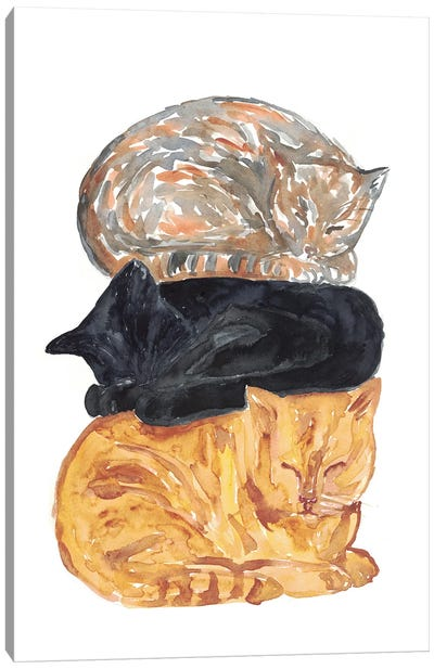 Cat Pile Canvas Art Print