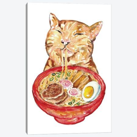 Cat Ramen Canvas Print #MSG37} by Maryna Salagub Canvas Artwork