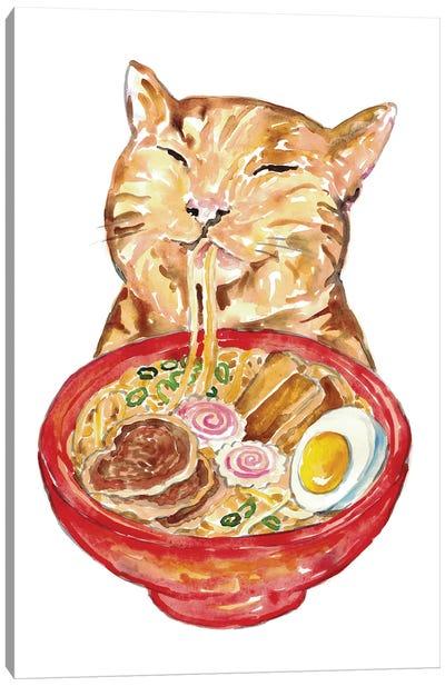 Cat Ramen Canvas Art Print