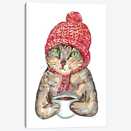 Cat Coffee Canvas Print #MSG38} by Maryna Salagub Art Print
