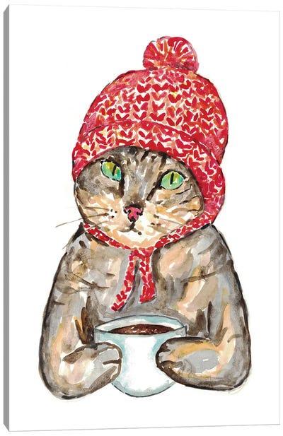 Cat Coffee Canvas Art Print