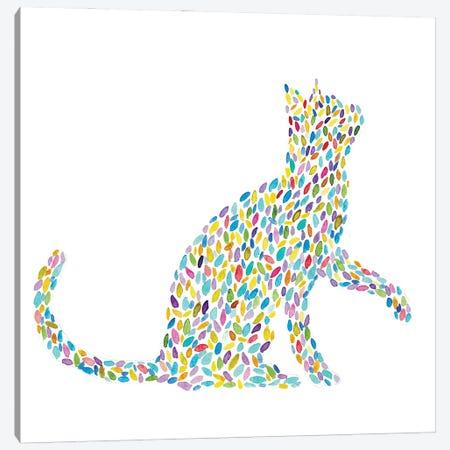 Cat Floral Canvas Print #MSG39} by Maryna Salagub Canvas Print
