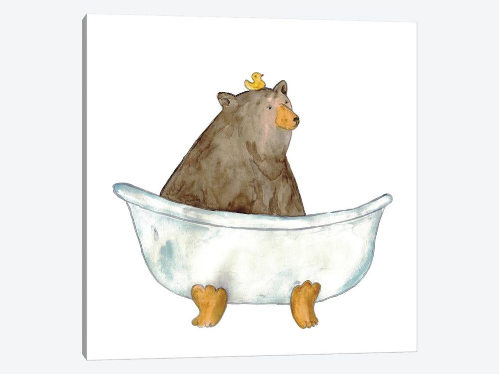 Bear Bath by Maryna Salagub 1-piece Art Print