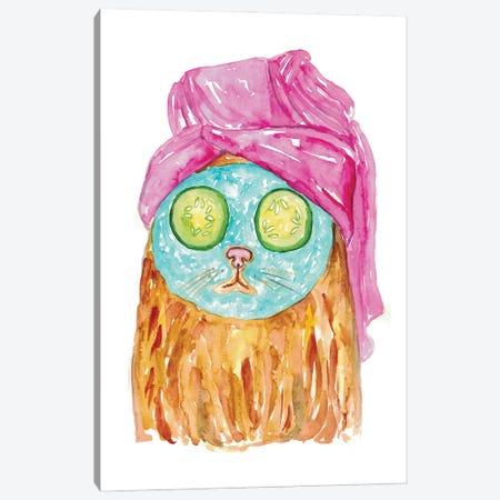 Cat Spa Canvas Print #MSG41} by Maryna Salagub Canvas Wall Art