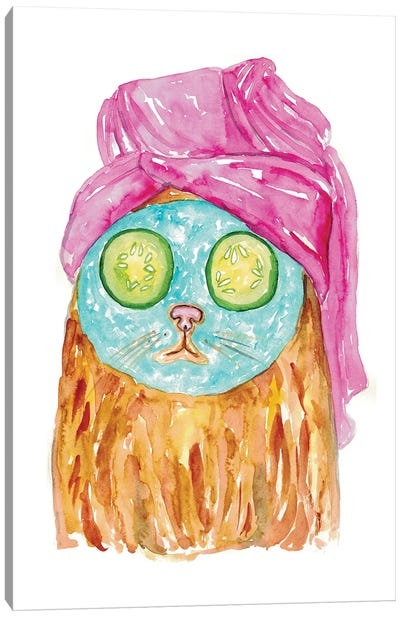 Cat Spa Canvas Art Print