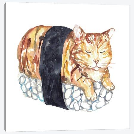 Cat Sushi Canvas Print #MSG43} by Maryna Salagub Canvas Wall Art