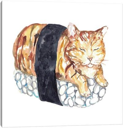 Cat Sushi Canvas Art Print