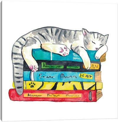 Cat Reader Canvas Art Print