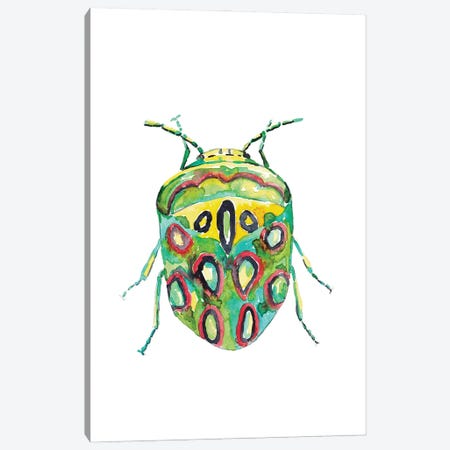 Colorful Beetle Canvas Print #MSG4} by Maryna Salagub Canvas Art Print