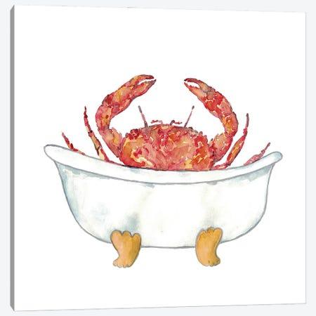 Crab Bath Canvas Print #MSG50} by Maryna Salagub Art Print
