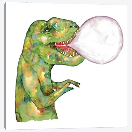 Dinosaur Gum Canvas Print #MSG51} by Maryna Salagub Canvas Art Print