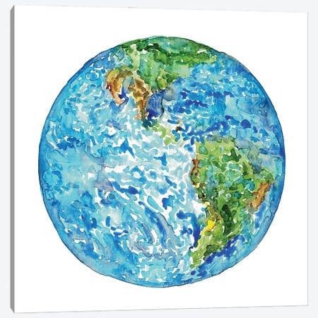 Planet Earth Canvas Print #MSG57} by Maryna Salagub Canvas Artwork