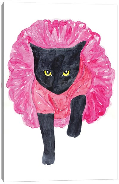 Cat Ballerina Canvas Art Print