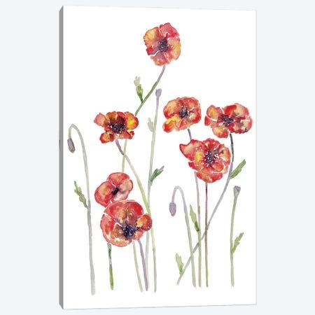 Flower Poppyflo Canvas Print #MSG61} by Maryna Salagub Canvas Wall Art