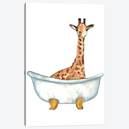 Giraffe Bath Canvas Print #MSG64} by Maryna Salagub Canvas Print