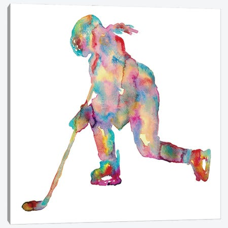 Hockey Girl Art Canvas Print #MSG71} by Maryna Salagub Canvas Art Print