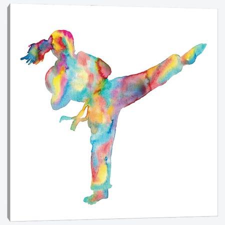 Karate Girl Canvas Print #MSG78} by Maryna Salagub Canvas Print