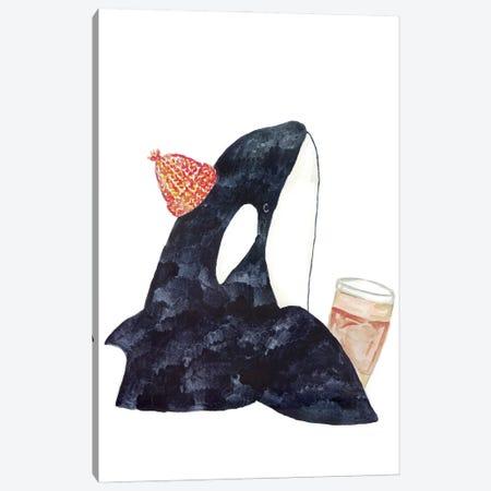 Orca Whale Coffee Canvas Print #MSG79} by Maryna Salagub Art Print