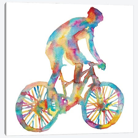 Bicycle Artwork Canvas Print #MSG84} by Maryna Salagub Art Print