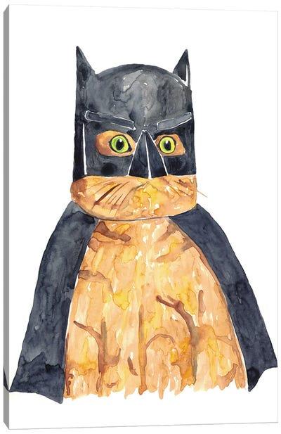 Bat Cat Canvas Art Print