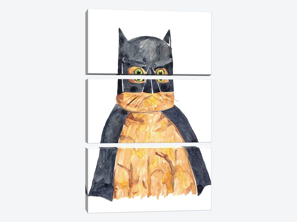 Bat Cat by Maryna Salagub 3-piece Canvas Wall Art