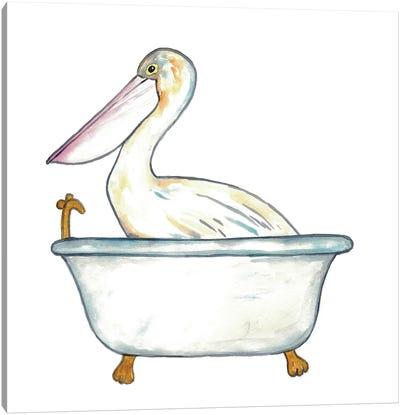 Pelican Bath Canvas Art Print