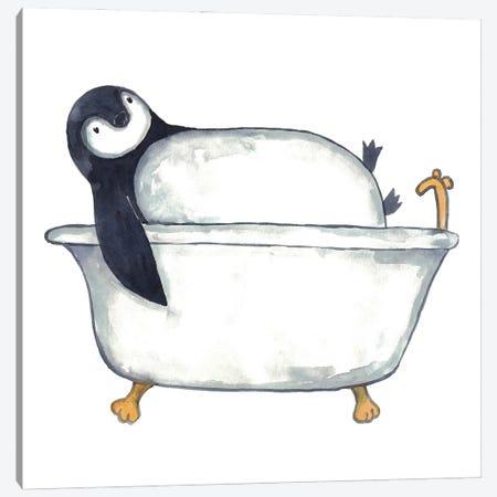 Penguin Bath Canvas Print #MSG91} by Maryna Salagub Canvas Art Print
