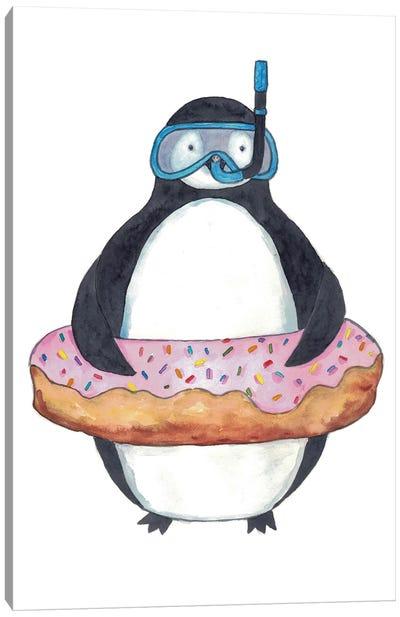 Penguin Diver Canvas Art Print