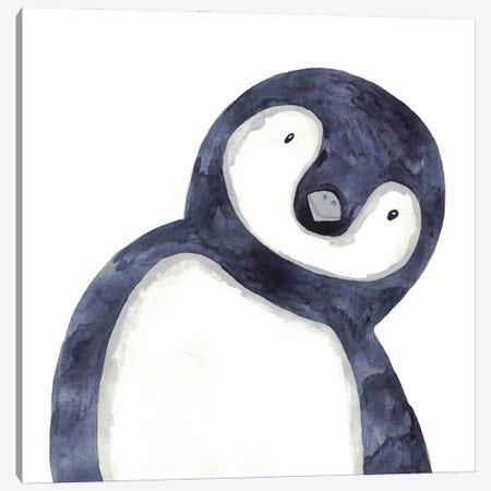 Penguin Peeking Canvas Print #MSG93} by Maryna Salagub Canvas Print