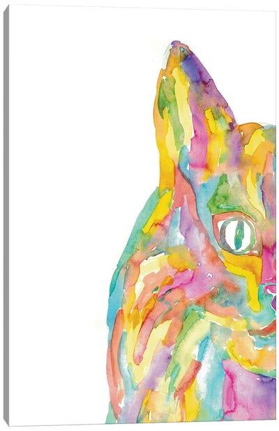Cat Rainbow Canvas Art Print