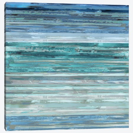 Strata In Aqua Canvas Print #MSH4} by Matt Shields Canvas Wall Art