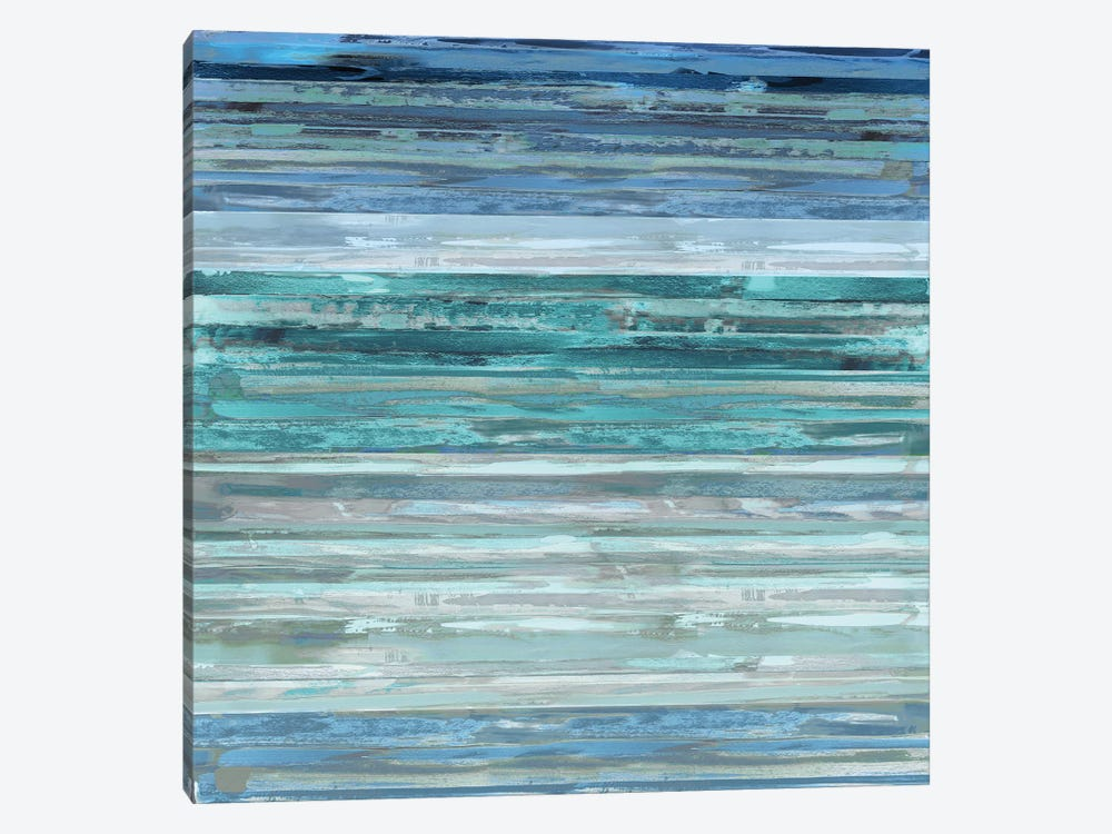 Strata In Aqua by Matt Shields 1-piece Canvas Art Print