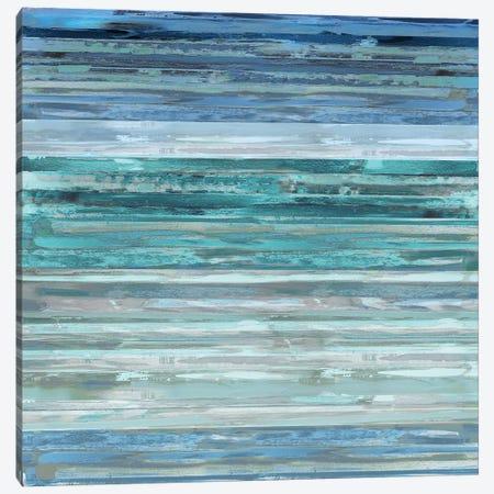 Strata In Aqua Canvas Print #MSH4} by Matt Shields Canvas Wall Art