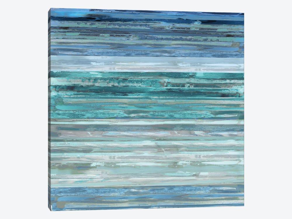 Strata In Aqua by Matt Shields 1-piece Canvas Art Print