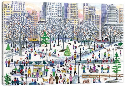 Central Park Christmas Canvas Art Print