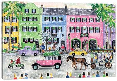 Christmas In Charleston Canvas Art Print