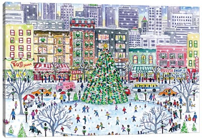 Christmas In The City Canvas Art Print