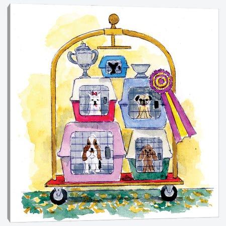 Dog Show Winners Canvas Print #MSI37} by Michael Storrings Canvas Artwork