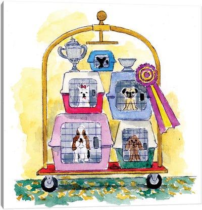Dog Show Winners Canvas Art Print