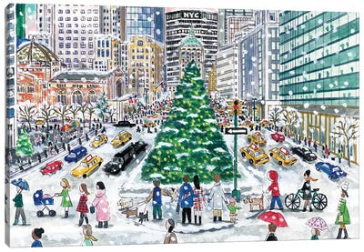 Park Avenue Winter Canvas Art Print