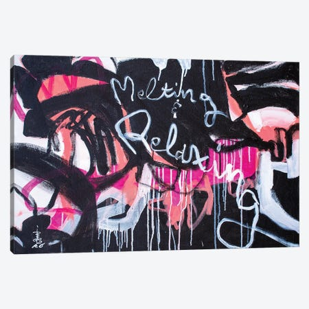 Melting And Relaxing Canvas Print #MSK139} by Misako Chida Canvas Artwork