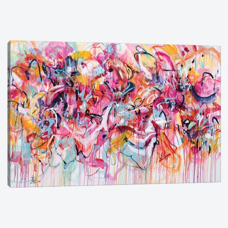 Bloom All The Way Canvas Print #MSK144} by Misako Chida Canvas Artwork