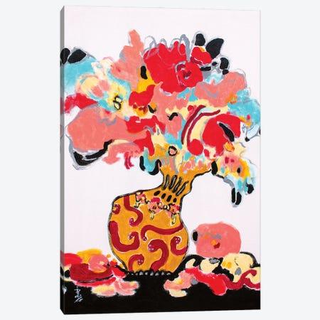 Dancing Nobly Canvas Print #MSK146} by Misako Chida Canvas Artwork