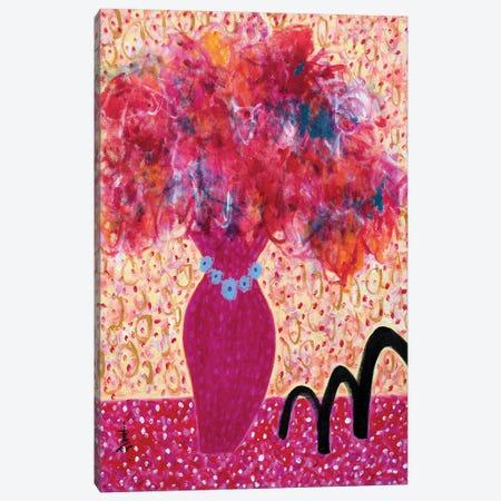 Flowers For Barbamama Canvas Print #MSK148} by Misako Chida Canvas Art Print