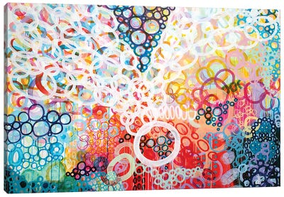 Dots And Circles X Canvas Art Print