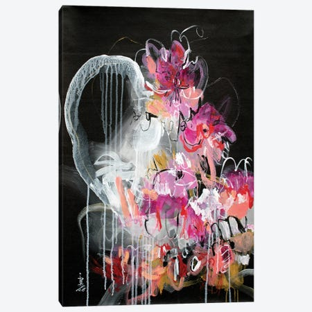 Wildflower Wishes IV Canvas Print #MSK42} by Misako Chida Canvas Wall Art