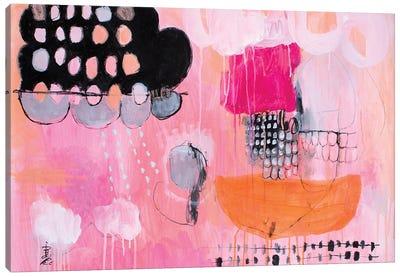 Peach Melody Canvas Art Print