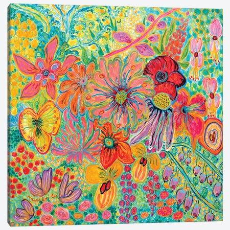 Fragrant Garden I Canvas Print #MSK94} by Misako Chida Canvas Wall Art